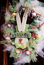 rabbit, holiday, decor, idea, craft, front door wreaths, easter wreaths, spring wreaths, easterwreath