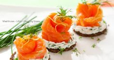 Norwegian Smoked Salmon Cream Cheese Canapés - Quick Healthy Recipes - WEENII