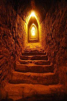 Escalera de la Piramide de Cholula, Mexico