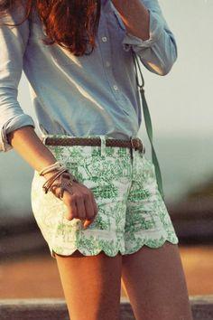prep-fashion toile shorts
