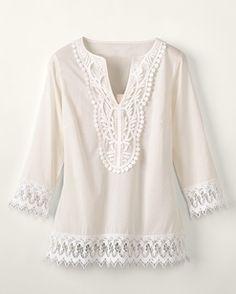 blouses, fashion, cloth, crochet medallion, coldwater creek, riding boots, closet, accessories, linen