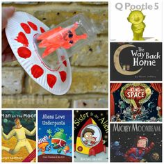 Adorable Paper Plate Alien Spaceship craft + 15 fab books about aliens and space.