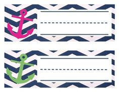 Great Nautical Nameplates! Cant wait to use them in my classroom