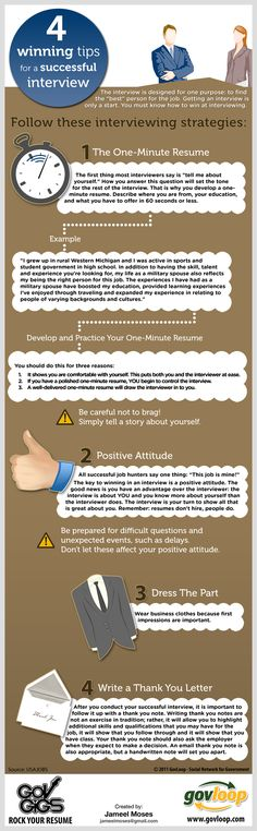 4 winning tips for a successful job interview [INFOGRAPHIC] #Career #Job #Interview