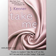 Yay! Take Me hit USA Today and NYT Bestseller lists!  Stark readers rock!
