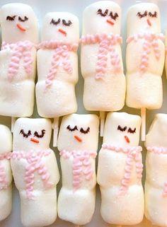 Chocolate-Covered Marshmallow Snowmen!