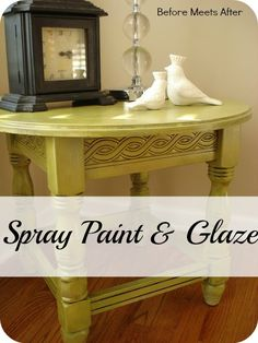 Using Spray Paint and Glaze on Thrift store furniture