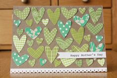 i ♥ mom card idea, galleri, valentine day, color schemes, paper, valentine cards, mothers day cards, scrapbook, heart cards