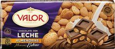 Chocolate Valor con Leche y Almendra marcona. No olvidarás su sabor.