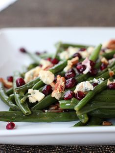 Winter Green Bean Salad--This delicious salad can be served warm or cold. #KitchenExplorers