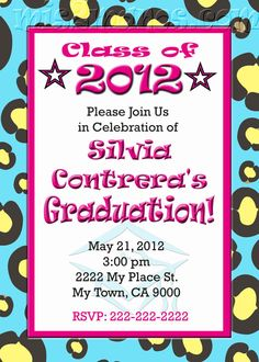 Graduation Invitation diy Printable Party by M2MPartyDesigns on Etsy