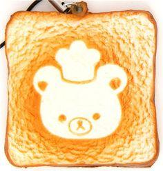 Rilakkuma bear toast bread squishy cellphone charm chef