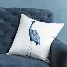 Stork Silk Pillow Cover | west elm