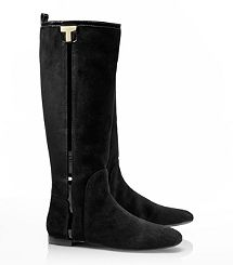 Tory Burch Erica Suede Flat Riding Boot....Like it....love it....must have it!