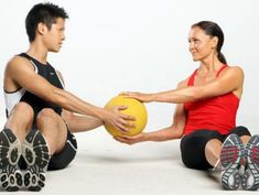 5 Medicine Ball Exercises For Couples- Joe & I are participating in an 8 week long couples challenge starting April 15!