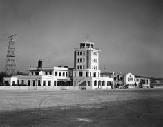 1940s view of Atlanta Municipal Airport. Known today as Hartsfield–Jackson Atlanta International Airport, it is the busiest airport in the world.