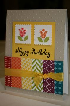 Hand Made Happy Birthday Greeting Card