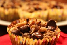 The Paleo Parents present the Chunky Monkey Muffin recipe. Enjoy these thick brownie-like muffins made with no sugar, and vegan to boot!