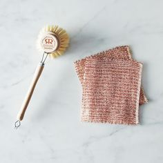 Woven Copper Dishcloths and Beechwood Dish Brush on Provisions by Food52