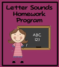 Letter Sounds homework program. Priced