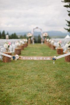Wedding wedding parties, tree stumps, wedding ideas, fairy tales, fairi, bride, log, wedding signs, outdoor weddings