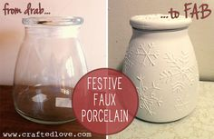 Crafted Love: DIY | Snowflake Faux Porcelain