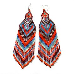 1000+ images about Beaded earrings - Long/brush on Pinterest | Seed ...