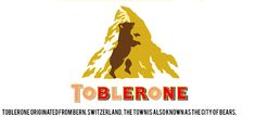 "Never saw the bear before! Toblerone. From Bern, Switzerland, the ""City of Bears"" / 30 Famous Logos That Have A Hidden Message"