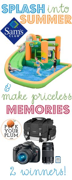 Would you like a chance to win either a DSLR camera or a bounce house? (Seriously, how cool of a prize is that??)