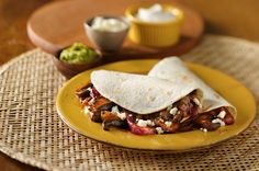 Mushroom and Onion Vegetarian Tacos #MeatlessMonday #tacos