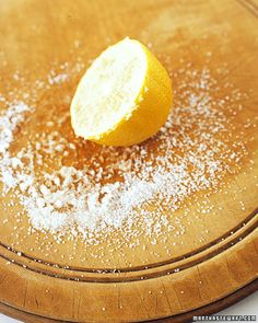 cutting boards, cut board, cleanses, around the house, kitchen towels, lemon uses, baking soda cleaning, uses for lemons, the secret
