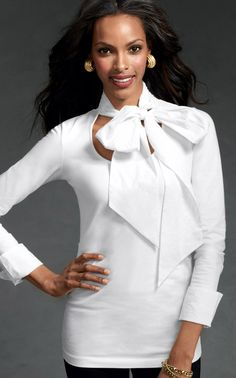 Take a Bow Blouse - Tops, Blouses/Shirts - CAbi Fall 2012 Collection - white career top #3 - Ready for Work