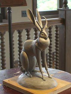 A jackalope by sculpting legend Kent Melton