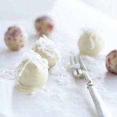 white cranberry cashew truffles