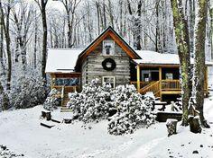 Winter View at Cabin | Flickr - Photo Sharing!