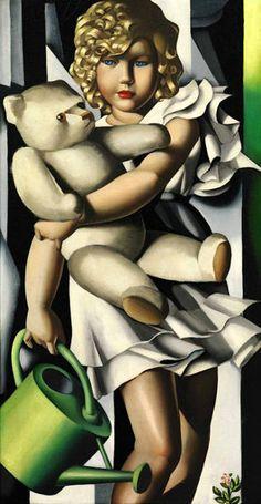 """Tamara de Lempicka (1898-1980) """"Portrait de Mlle Poum Rachou"""""""