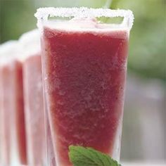Watermelon-Mint Margaritas - Prep: 10 min., Freeze: 4 hrs. Use leftover watermelon to make this slushy summer drink..  Print this recipe at AmericanFamily.com.