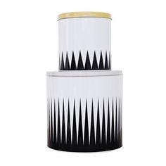 Spire plåtbox 2-pack - svart/vit - Ferm Living Designonline