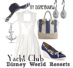 . disney cloth, disney resorts, disney style, club outfits, disney world resorts, the dress, resort style, disneybound, yacht club