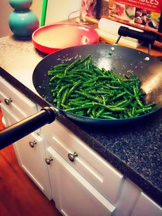 A Quick Dinner Night Post: Green Beans,  Roasted Butternut Squash