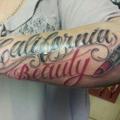 Lipstick Writing Tattoo Designs