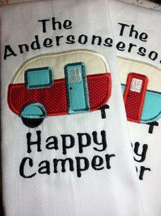 Happy Camper Kitchen Tea Towel
