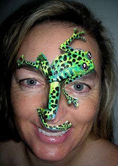 face painting  tree frog