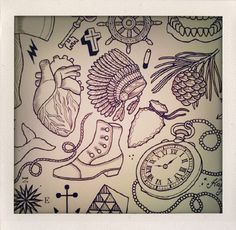 . tattoo ideas, arrows, pocket watch, tattoo sketches, pin, dress, indian arrowhead tattoo, bake fennel, art recipes