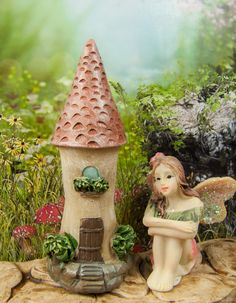 Enchanted tiny castle house for your mini fairy gardens.