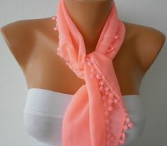 Candy Pink Scarf  Cotton  Scarf  by fatwoman, $15.00