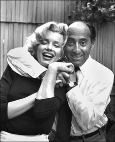 Alfred Eisenstaedt and Marilyn Monroe, Hollywood, CA, USA, 1953