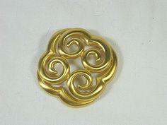 Vintage ANNE KLEIN BROOCH Gold Swirl Knot by LavenderGardenCottag