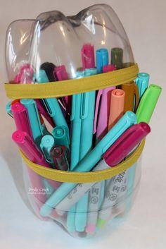 Upcycled Soda Bottle Pencil Case!