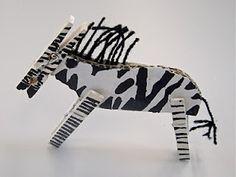 zebra clothes pin